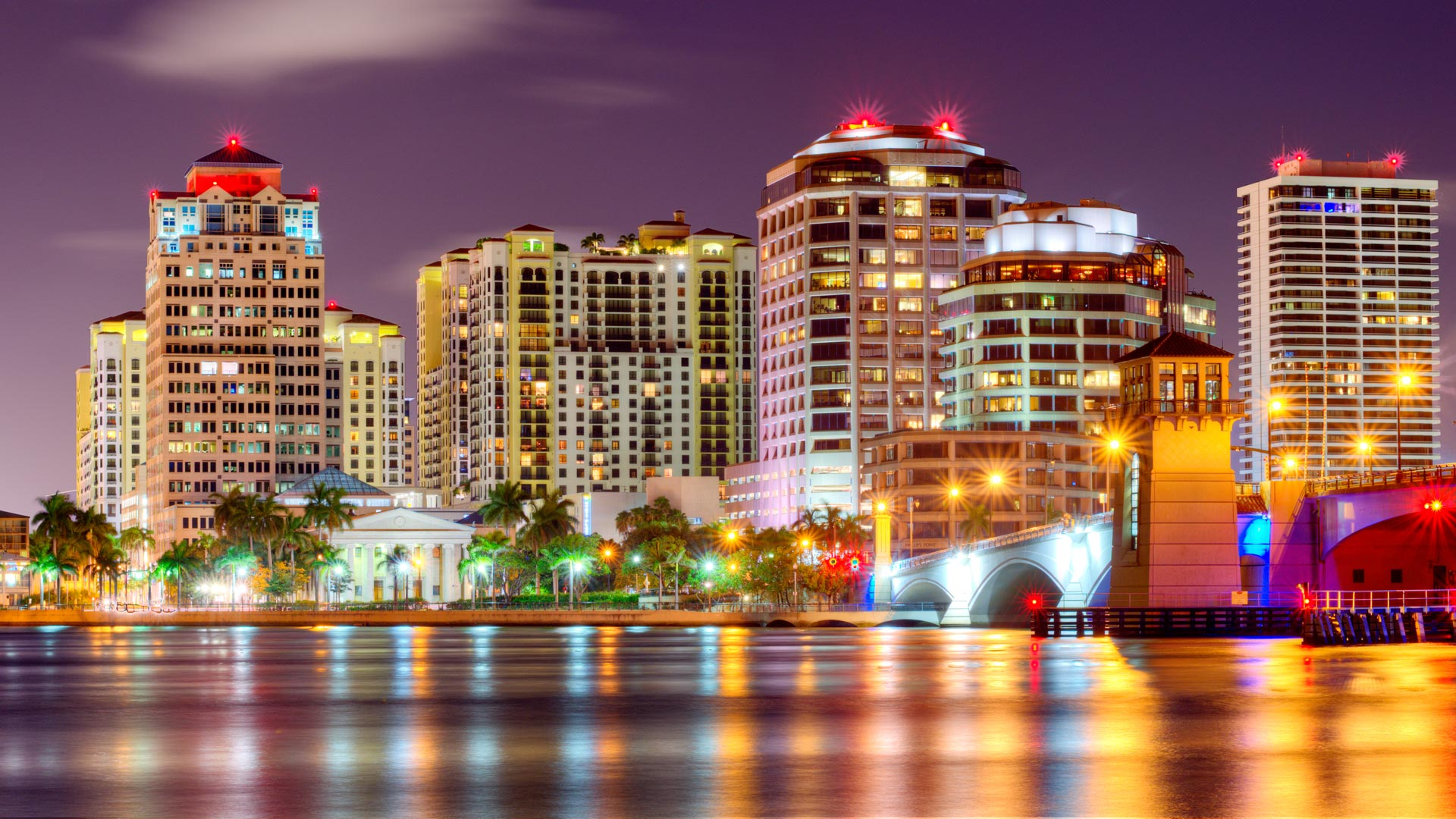 Waterfront view of West Palm Beach