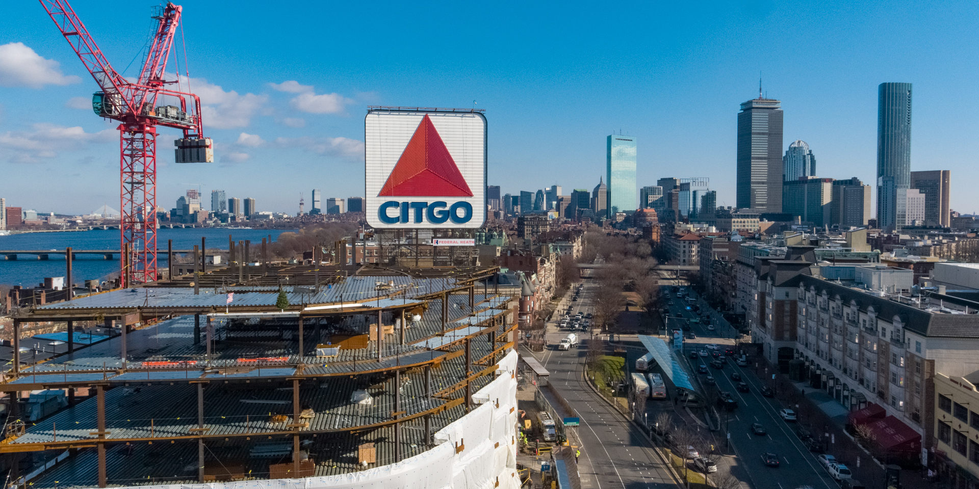 Celebrating topping out at Kenmore Square Redevelopment